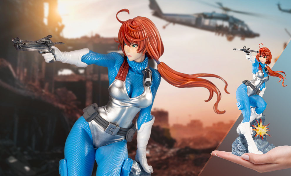 Gallery Feature Image of Scarlett (Sky Blue Color) Statue - Click to open image gallery