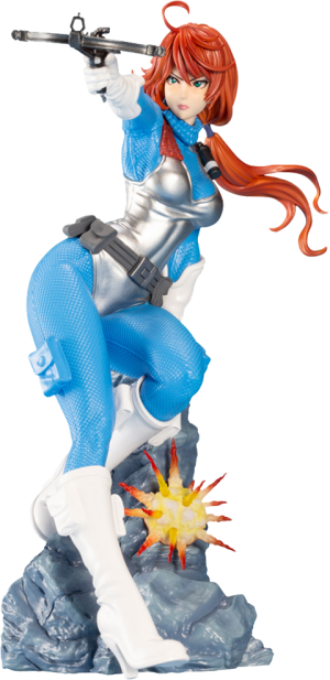 Scarlett (Sky Blue Color) Statue