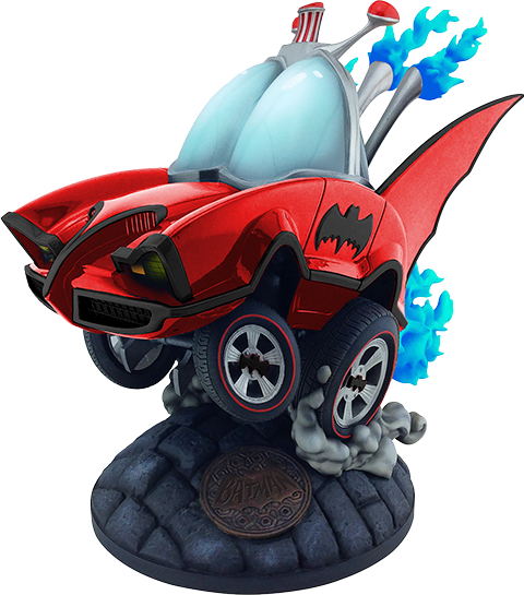 Cryptozoic Entertainment Batman Classic TV Series Batmobile (Red Variant) Statue