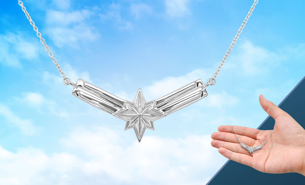Gallery Feature Image of Captain Marvel's Necklace Jewelry - Click to open image gallery