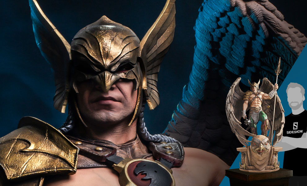 Gallery Feature Image of Hawkman (Closed Wings) Statue - Click to open image gallery