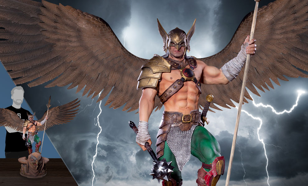 Gallery Feature Image of Hawkman (Open Wings) Statue - Click to open image gallery