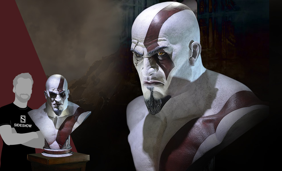 Gallery Feature Image of Kratos Life-Size Bust - Click to open image gallery