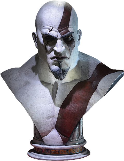 Gaming Heads Kratos Life-Size Bust