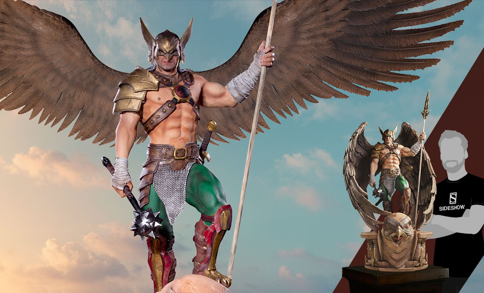 Gallery Feature Image of Hawkman (Open & Closed Wings) Statue - Click to open image gallery