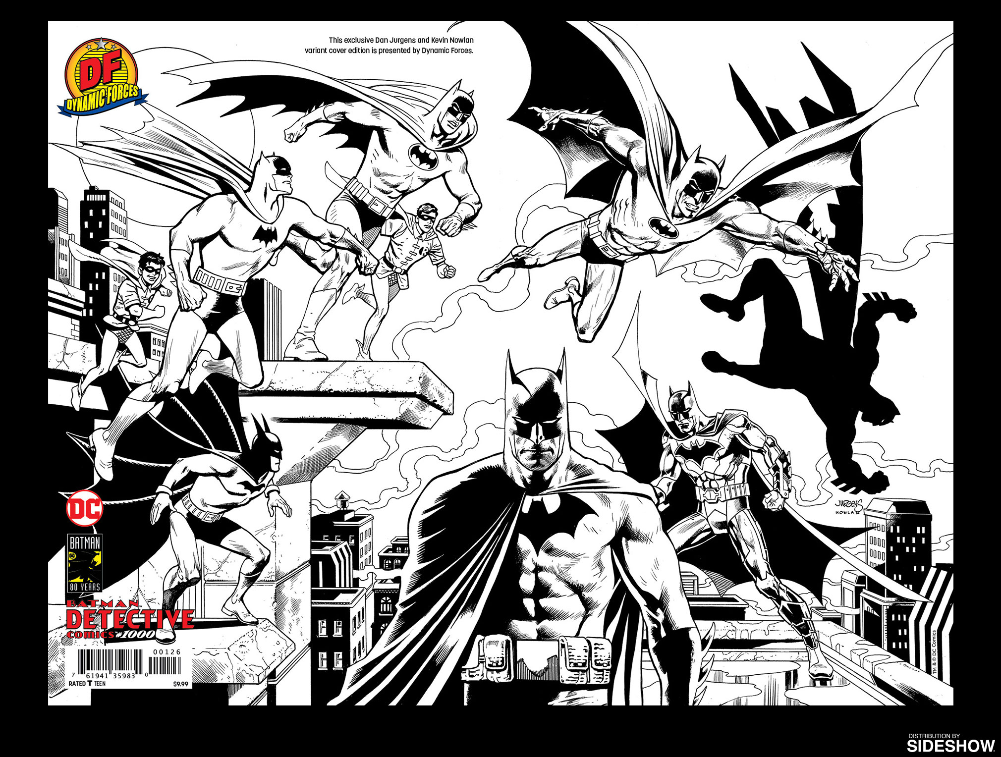 Detective comics 1000 pure line art edition prototype shown