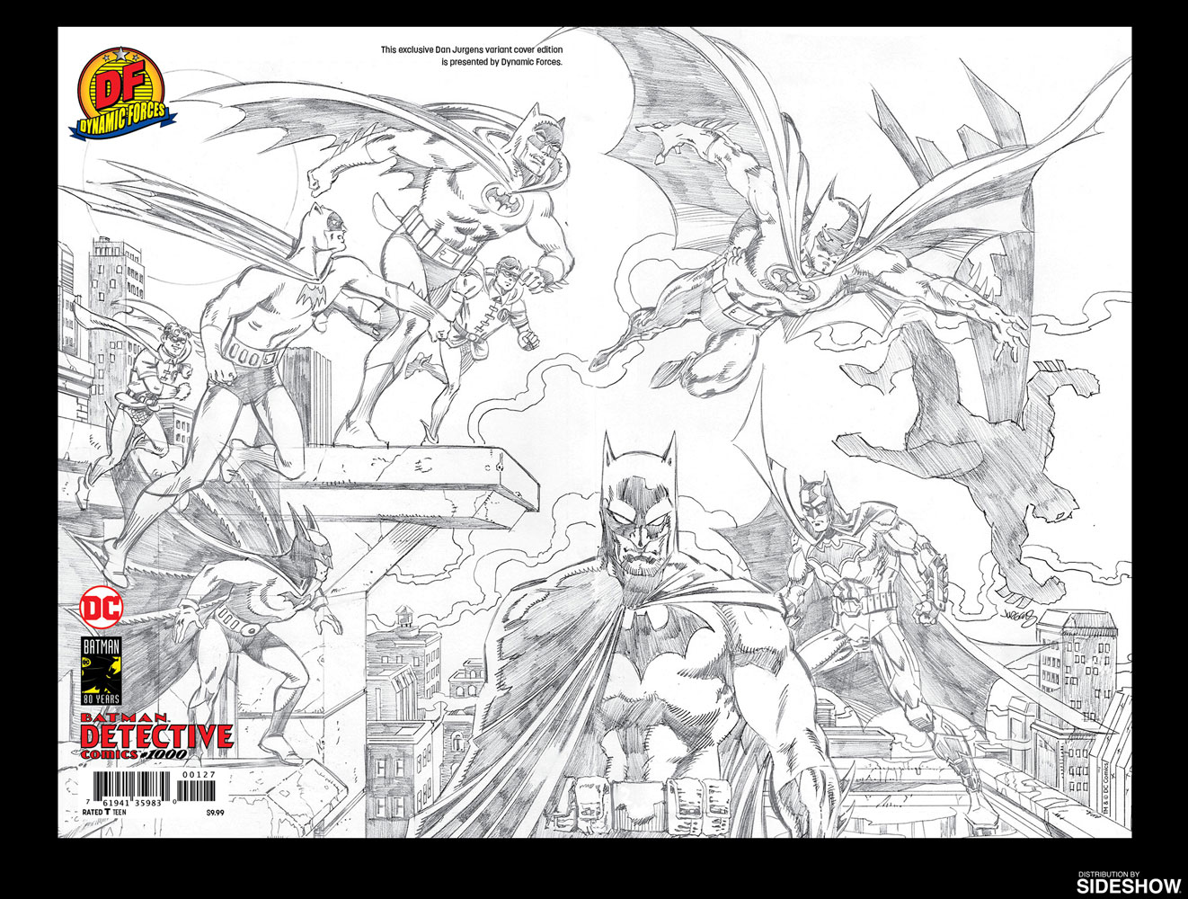 Detective comics 1000 pure pencil sketch edition prototype shown