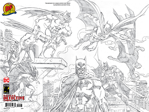 Dynamic Forces Detective Comics #1000 Pure Pencil Sketch Edition Book