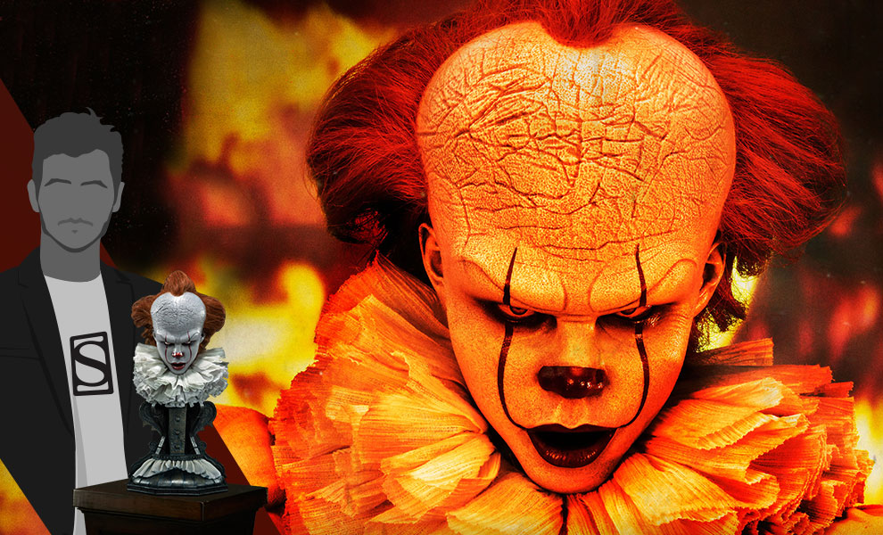 Gallery Feature Image of Pennywise (Serious) Bust - Click to open image gallery