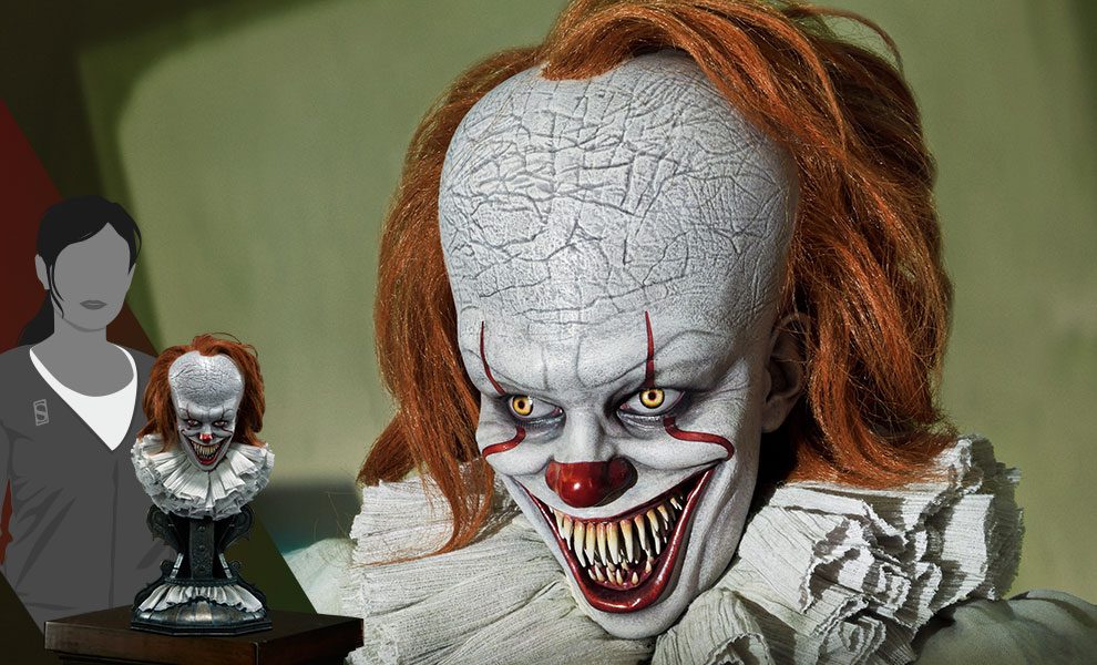 Gallery Feature Image of Pennywise (Dominant) Bust - Click to open image gallery