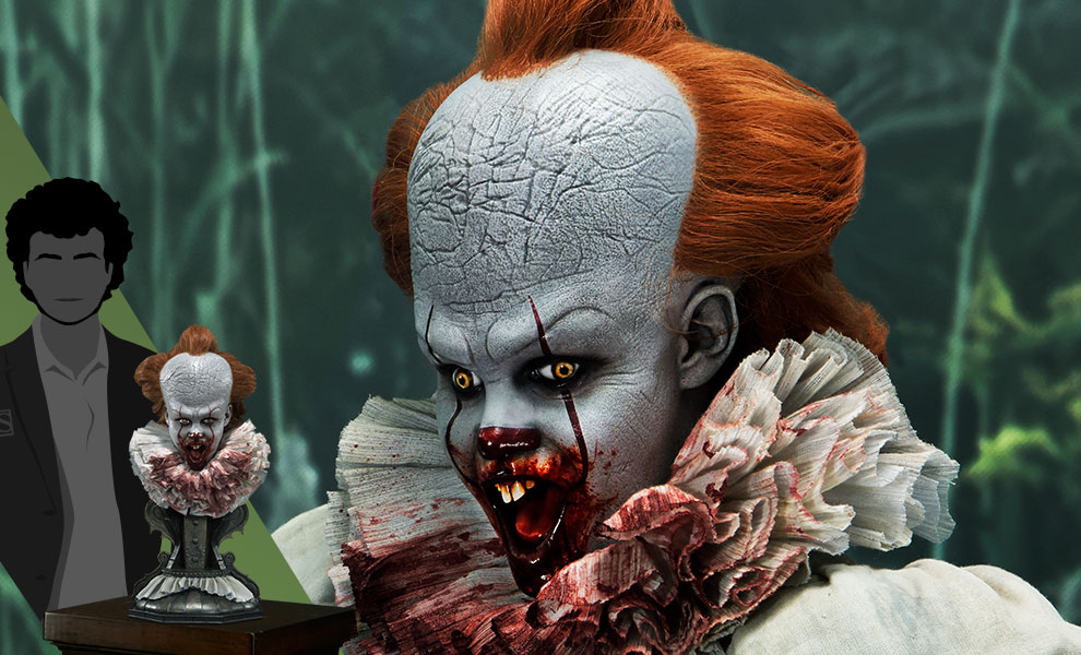Gallery Feature Image of Pennywise (Surprised) Bust - Click to open image gallery