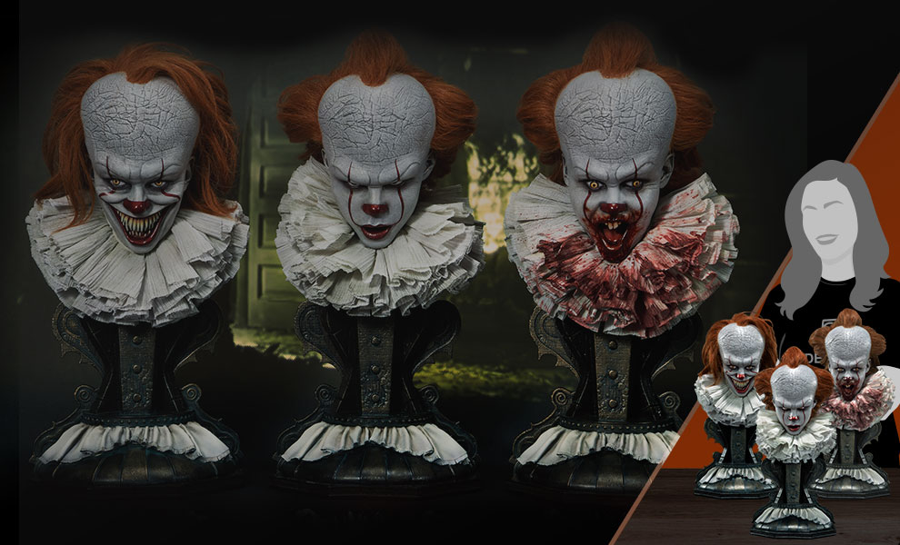 Gallery Feature Image of Pennywise Bust Set Collectible Set - Click to open image gallery