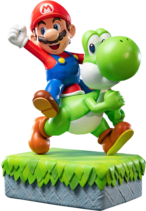 First 4 Figures Mario and Yoshi Statue