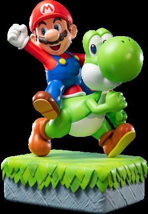 Mario and Yoshi Statue