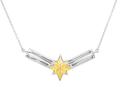 Whats Your Passion Jewelry Captain Marvel's Necklace - Gold Jewelry
