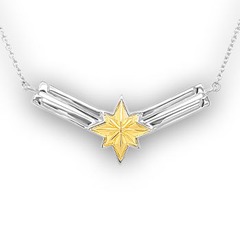 Captain Marvel's Necklace - Gold Jewelry