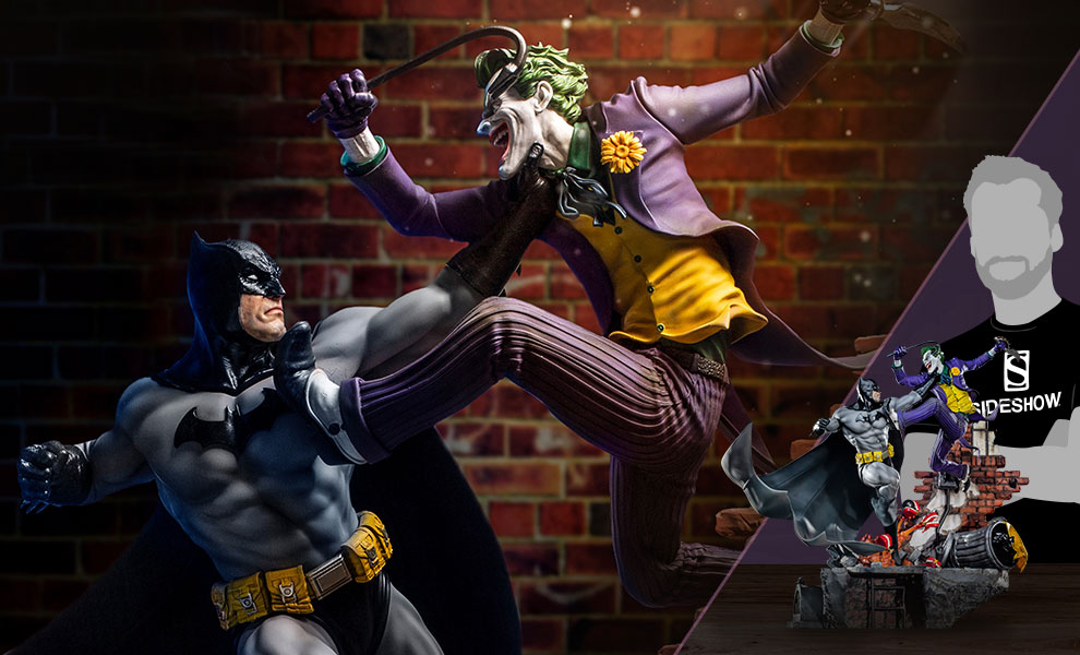 Dc Comics Batman Vs The Joker Sixth Scale Diorama By Iron Studios