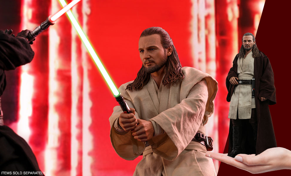 Gallery Feature Image of Qui-Gon Jinn Sixth Scale Figure - Click to open image gallery