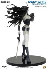 Gallery Image of Sela Mathers (Snow White) Black & White Statue