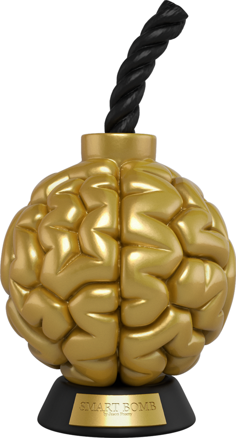 Mighty Jaxx Smart Bomb (Gold Edition) Vinyl Collectible
