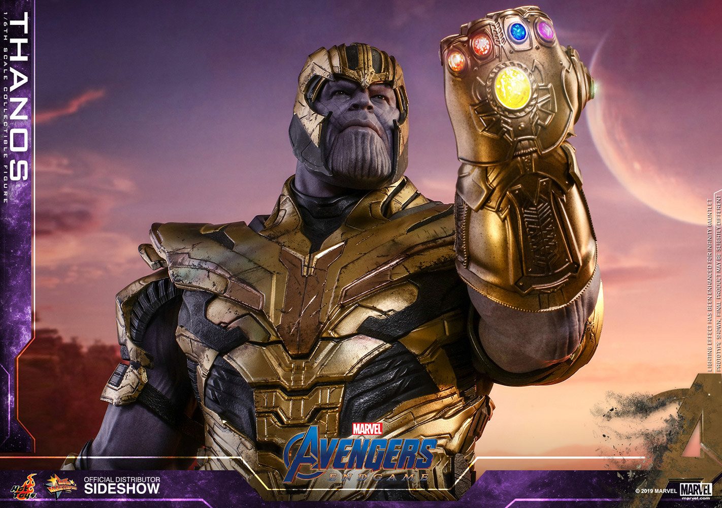 thanos  scale figure  hot toys sideshow collectibles