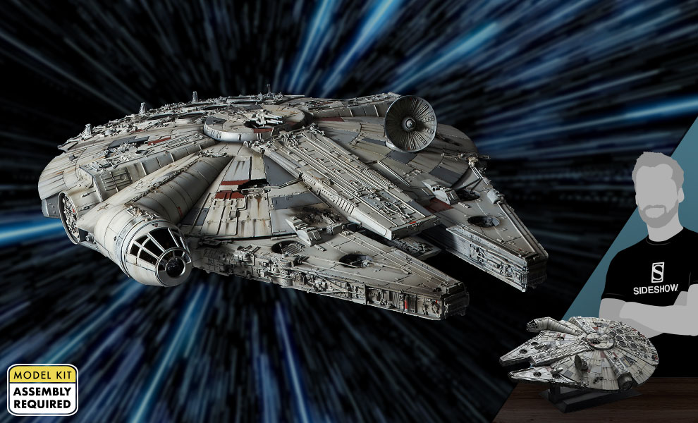 Gallery Feature Image of Millennium Falcon Model Kit - Click to open image gallery