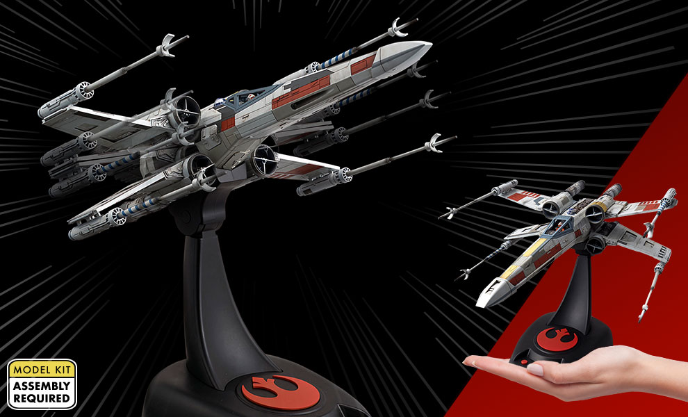 Gallery Feature Image of X-Wing Starfighter Moving Edition Plastic Model Model Kit - Click to open image gallery