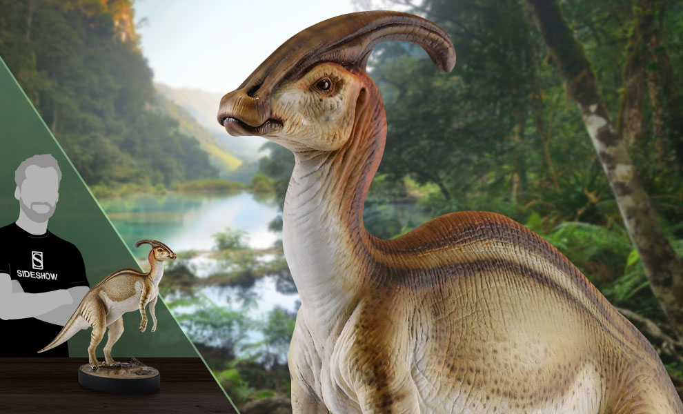 Gallery Feature Image of Parasaurolophus Statue - Click to open image gallery