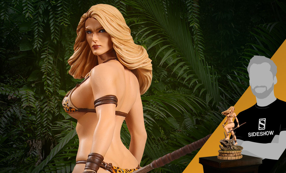 Gallery Feature Image of Jungle Girl Diamond Eye Artist Proof Statue - Click to open image gallery