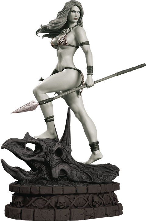 Dynamite Entertainment Jungle Girl Black & White Statue