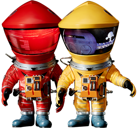 Star Ace Toys Ltd. Discovery Astronaut (Red & Yellow Twin Pack) Vinyl Collectible