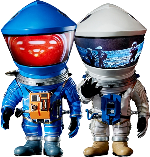 Star Ace Toys Ltd. Discovery Astronaut (Silver & Blue Twin Pack) Vinyl Collectible