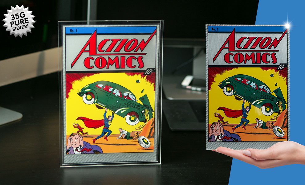Gallery Feature Image of Action Comics #1 Silver Foil Silver Collectible - Click to open image gallery