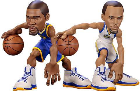 ICONai Stephen Curry and Kevin Durant SmALL-Stars Collectible Set