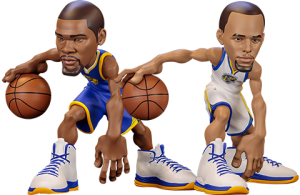 Stephen Curry and Kevin Durant SmALL-Stars Collectible Set