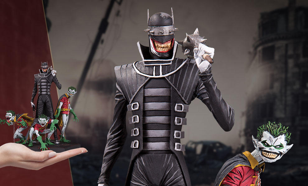 Gallery Feature Image of The Batman Who Laughs & Robin Minions Deluxe Statue - Click to open image gallery