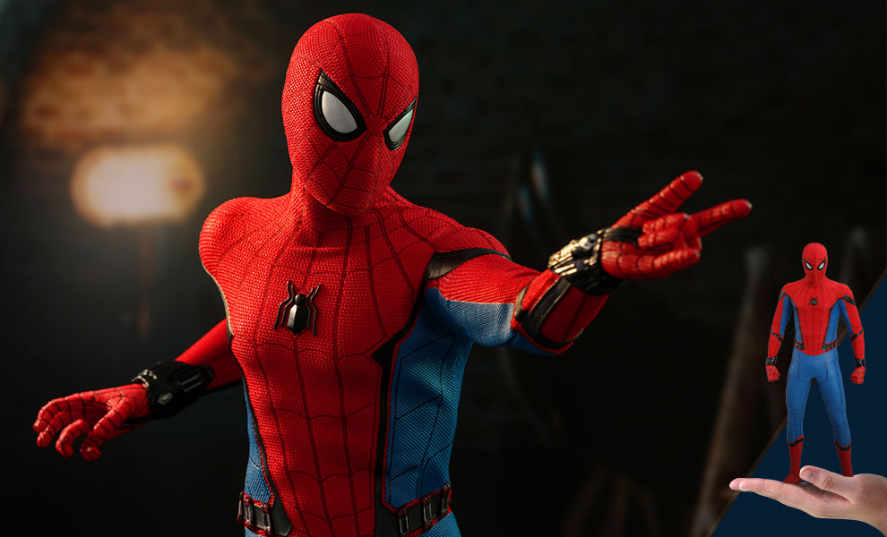 Gallery Feature Image of Spider-Man (Movie Promo Edition) Sixth Scale Figure - Click to open image gallery