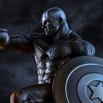 Captain America Resolute Figurine Pewter Collectible