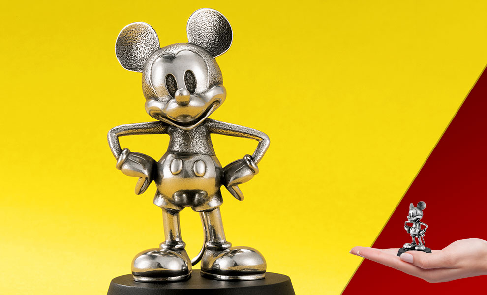 Gallery Feature Image of Mickey Mouse Steamboat Willie Figurine Pewter Collectible - Click to open image gallery