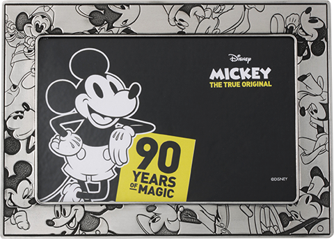 Royal Selangor Mickey Through the Ages Photo Frame Pewter Collectible