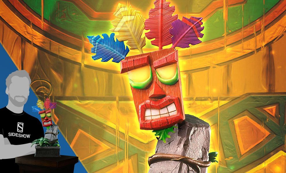 Gallery Feature Image of Mini Aku Aku Mask Statue - Click to open image gallery