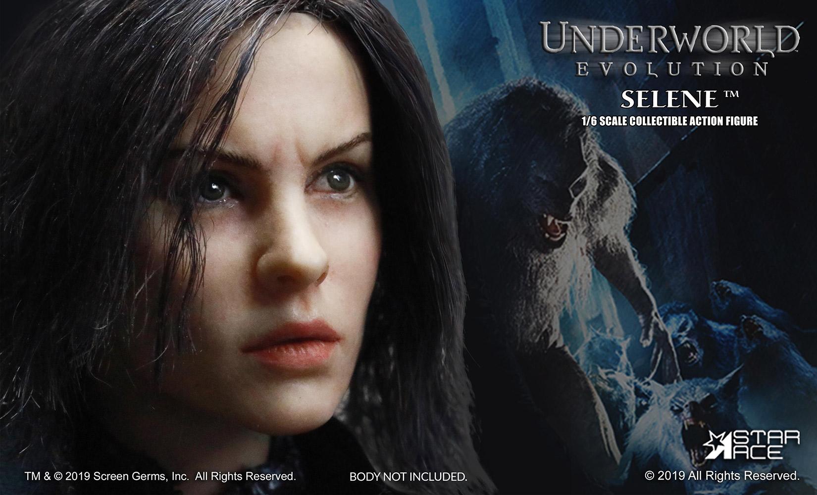 1//6 Scale Underworld Vampire Selene Blue Eyes Head Sculpt Female Head Model