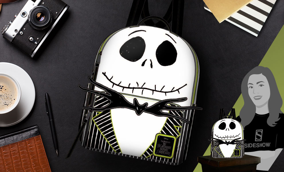 Gallery Feature Image of Jack Skellington Mini Backpack Apparel - Click to open image gallery