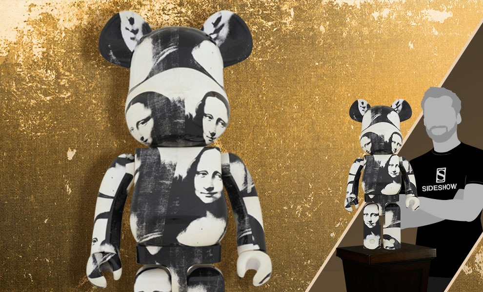"""Gallery Feature Image of Be@rbrick Andy Warhol """"Double Mona Lisa"""" 1000% Figure - Click to open image gallery"""