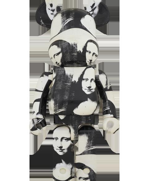 "Medicom Toy Be@rbrick Andy Warhol ""Double Mona Lisa"" 1000% Figure"