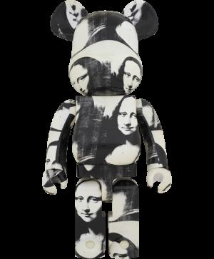 """Be@rbrick Andy Warhol """"Double Mona Lisa"""" 1000% Figure"""