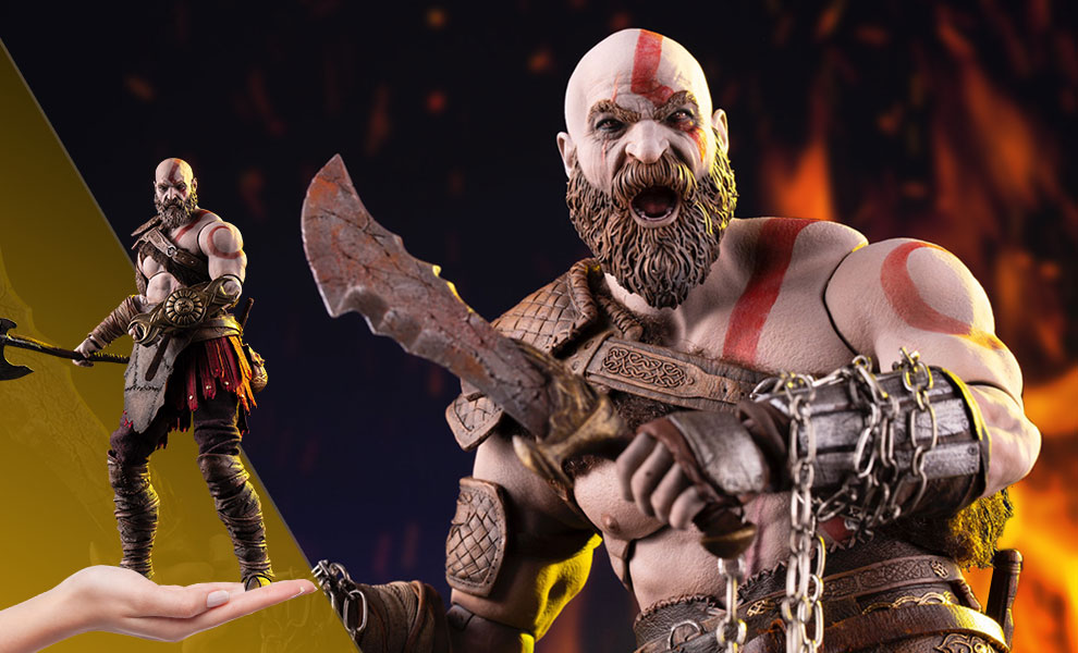 Gallery Feature Image of Kratos Deluxe Sixth Scale Figure - Click to open image gallery