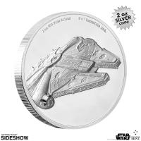 Gallery Image of Millennium Falcon Silver Coin Silver Collectible