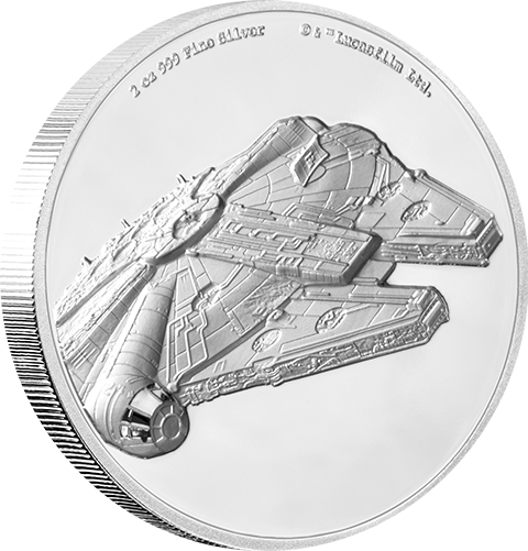 New Zealand Mint Millennium Falcon Silver Coin Silver Collectible