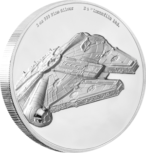 Millennium Falcon Silver Coin Silver Collectible
